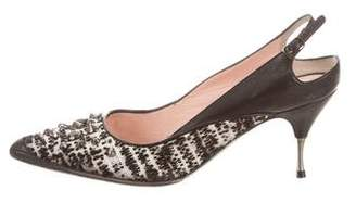 No.21 No. 21 Studded Tweed Pumps