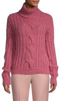 Max Mara Melk Cable Knit Turtleneck Sweater