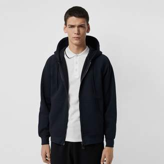 Burberry Embroidered Logo Jersey Hooded Top