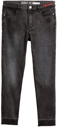 H&M Generous Fit Twill Pants - Black