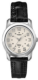 Timex Analog Watch with Cream Dial and LeatherStrap $23.82 thestylecure.com