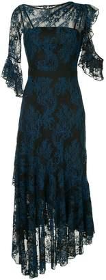 Three floor ruffled lace dress