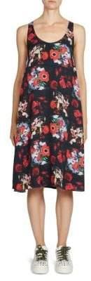 Kenzo Antonio's Floral-Print Silk Dress
