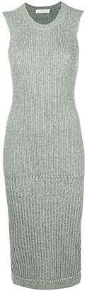 Victoria Beckham ribbed sleeveless midi dress