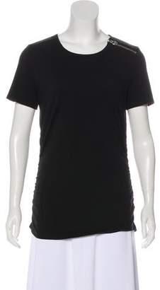 MICHAEL Michael Kors Zipper Accent Short Sleeve Top