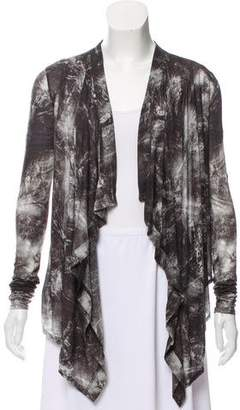 Helmut Lang Printed Open Front Cardigan