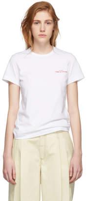 Comme des Garcons White Bonded Logo T-Shirt