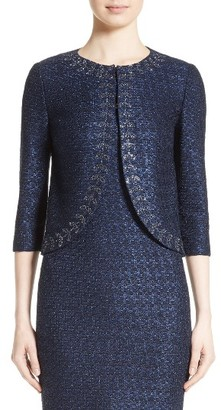 Women's St. John Collection Jiya Sparkle Knit Jacket $1,595 thestylecure.com