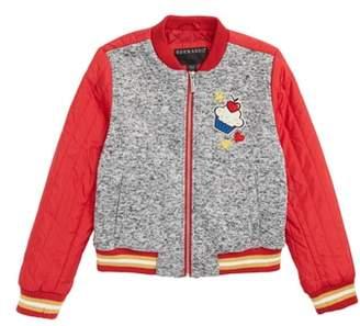 Bernardo Cupcake Applique Bomber Jacket
