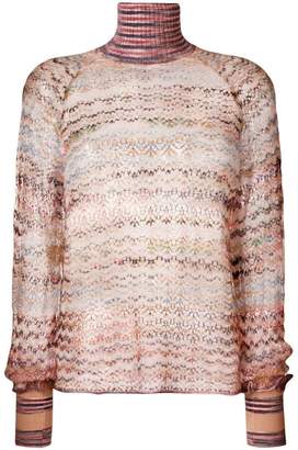 Missoni sheer turtleneck sweater