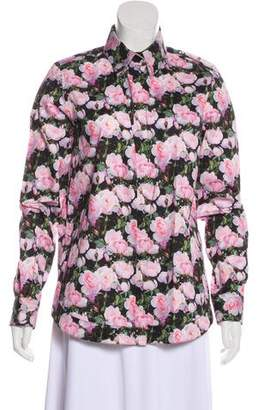 Givenchy Floral Print Button-Up Top