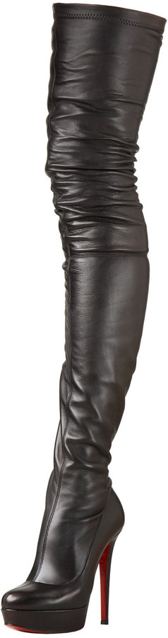 Christian Louboutin Leather Over-The-Knee Boot