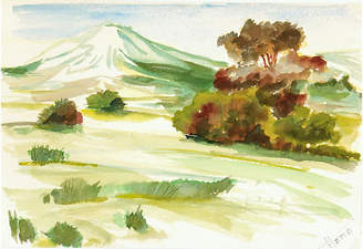 One Kings Lane Vintage 1960s Watercolor Landscape