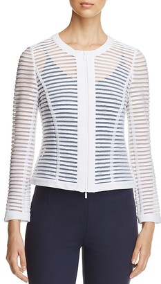 Lafayette 148 New York Catrice Sheer Stripe Jacket $498 thestylecure.com