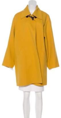 Salvatore Ferragamo Wool Knee-Length Coat