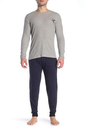 Lucky Brand Long Sleeve Thermal Tee & Sleepwear Jersey Joggers Gift Set