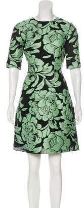Lela Rose Jacquard Knee-Length Dress