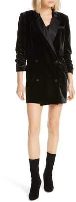 Joie Albertyne Velvet Blazer Dress
