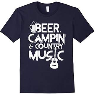 Beer Campin' & Country Music T Shirt