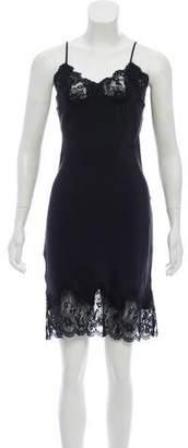Gold Hawk Sleeveless Silk Knee-Length Dress w/ Tags