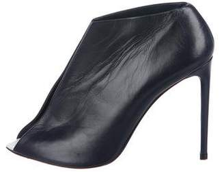 Balenciaga Split-Front Leather Booties