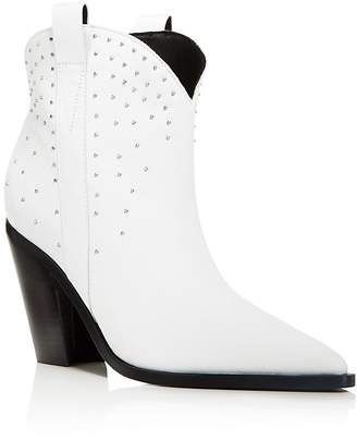 Sigerson Morrison Kalie Studded Leather Western Booties