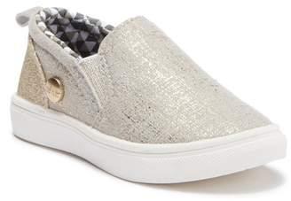 Nicole Miller Glitter Slip-On Sneaker (Toddler)