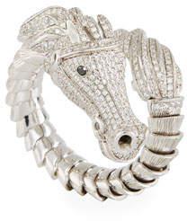 Roberto Coin 18k Diamond Pave Horse Ring, Size 6.5