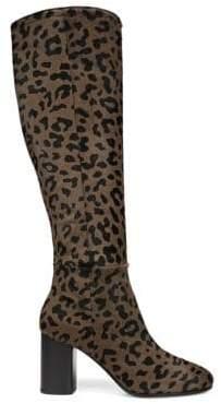 Diane von Furstenberg Reese Calf-Hair Knee High Boots