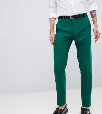 Asos Design DESIGN Tall wedding skinny suit pants in forest green