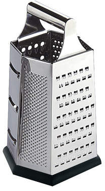 Home Basics Stainless Steel Cheese Grater (Set of 2)