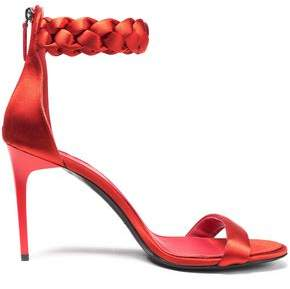 Oscar de la Renta Braided Satin Sandals