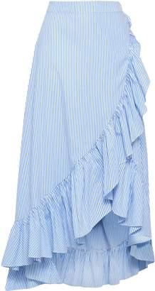 Raoul Wrap-effect Ruffled Cotton-poplin Midi Skirt
