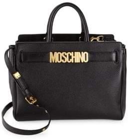 Moschino Leather Logo Satchel