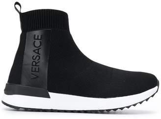cc5ea7f0b2bd Versace logo slip-on sneakers