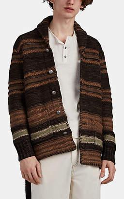 Ralph Lauren RRL Men's Ranch Linen-Blend Jacquard Belted Cardigan
