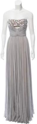 J. Mendel Embellished Strapless Gown