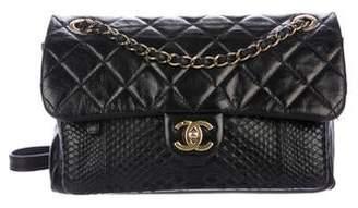 Chanel Glazed Calfskin Python Urban Mix Flap Bag
