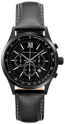 Church's LEONARD AND Leonard & Bowery Chronograph Leather Strap Watch, 43mm