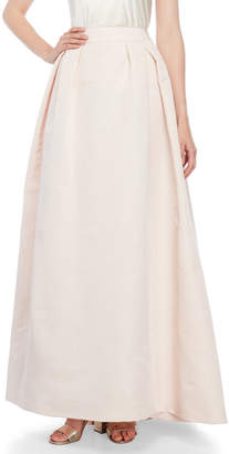 Carolina Herrera Blush Box Pleat Ball Skirt