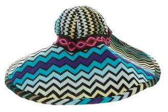 Missoni Chevron Wide-Brim Sun Hat