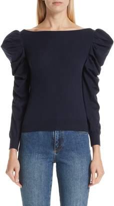 Co Alpaca & Wool Puff Sleeve Sweater