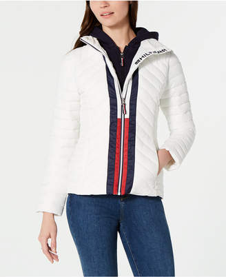 Tommy Hilfiger Attached Hoodie Puffer Jacket