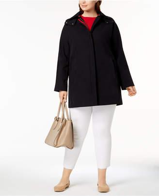 Vince Camuto Plus Size A-Line Raincoat