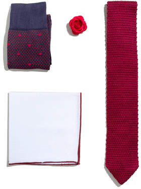 hook + ALBERT Shop the Look Suiting Accessories Set, Red
