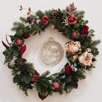 Gypsy Rose Vintage Luxury Floral Christmas Wreath