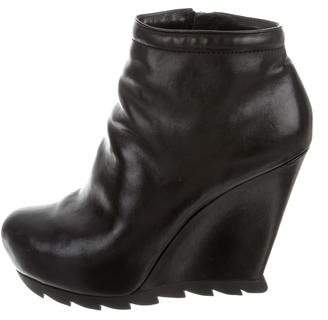 Camilla Skovgaard Leather Wedge Ankle Booties