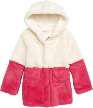 Tucker + Tate Coloblock Faux Fur Jacket