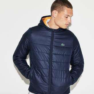 Lacoste Men's SPORT Hooded Water-Resistant Taffeta Tennis Jacket