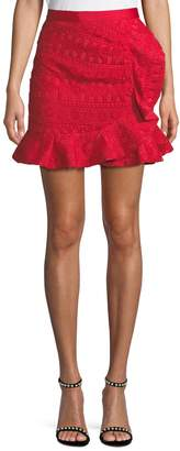 Self-Portrait Self Portrait Lace Frill Mini Skirt
